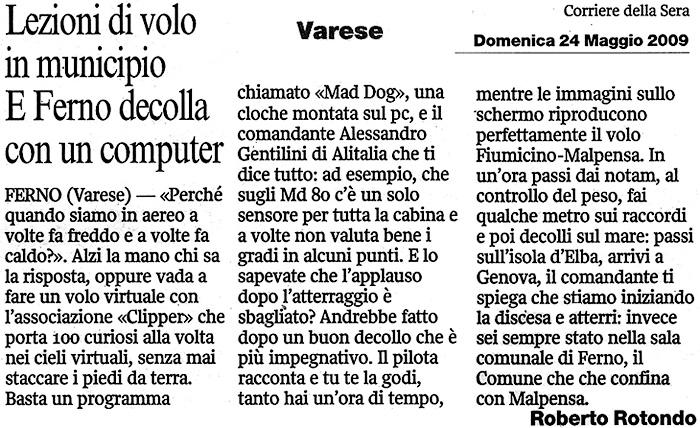 articolo_corriere_volo_virtuale_22052009
