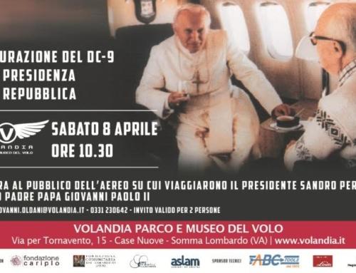 A Volandia, da sabato 8 aprile il DC 9 di Pertini e Wojtyla aperto al pubblico