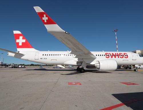 Bombardier CS300 Swiss a Milano Malpensa