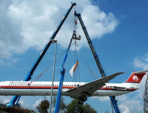 MD-80: da Malpensa a Volandia con una staffetta aerea fra gru