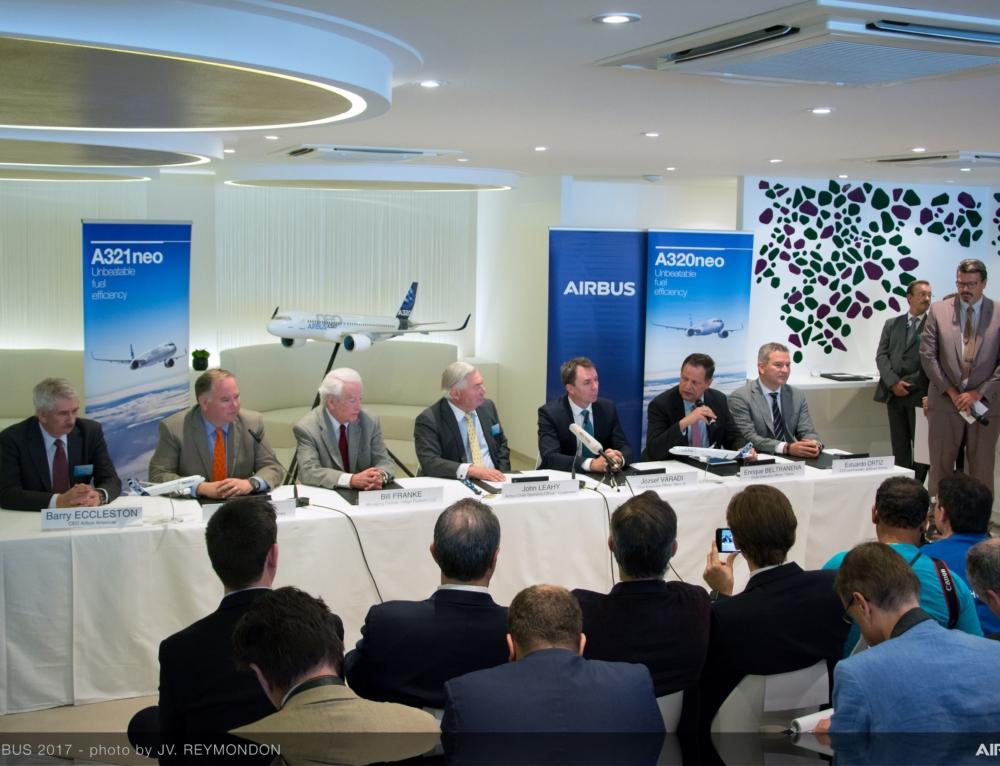 Fioccano gli ordini per Airbus al Salone di Dubai 2017