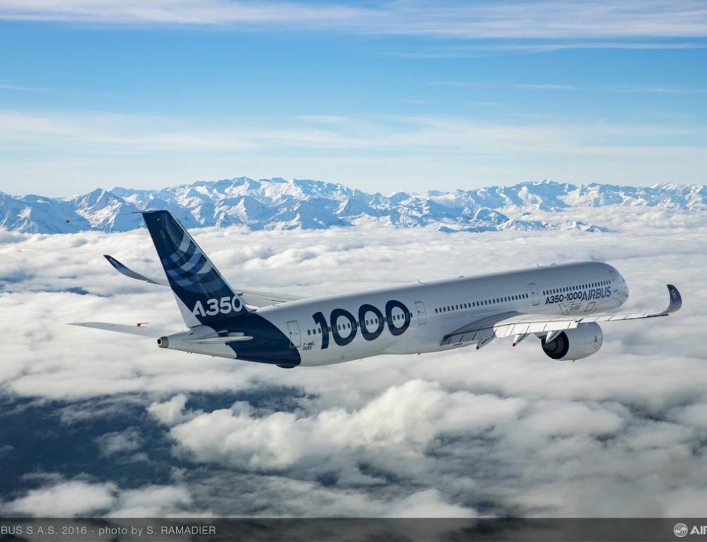 L'Airbus A350-1000 ottiene la certificazione di tipo da parte di EASA e FAA