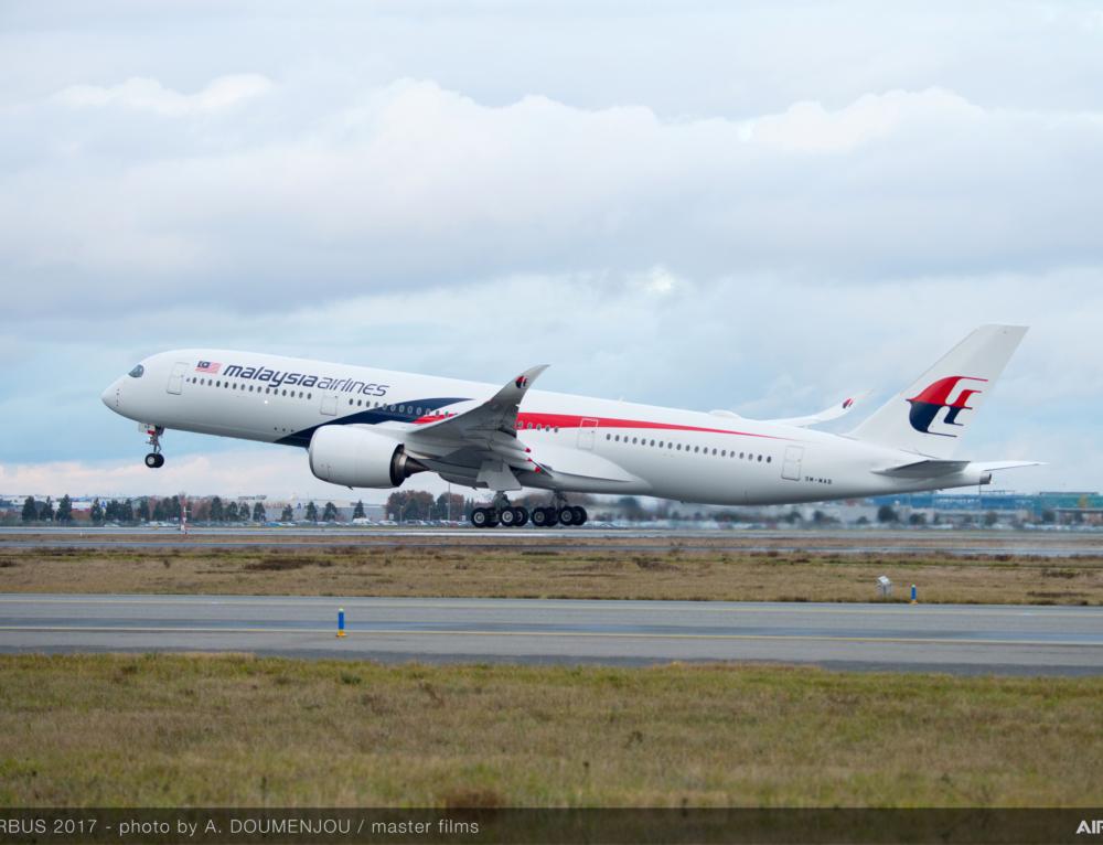 Malaysia Airlines riceve il suo primo Airbus A350 XWB