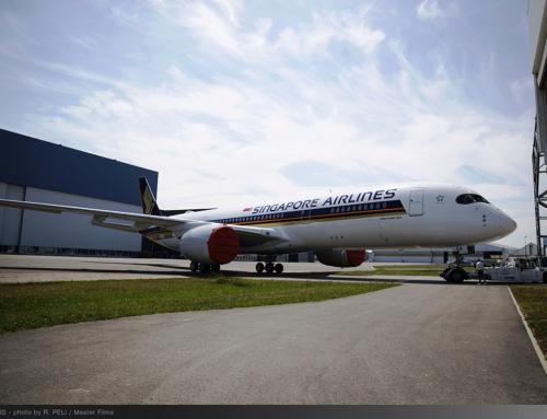 Il primo Airbus A350 XWB Ultra Long Range esce dalla verniciatura